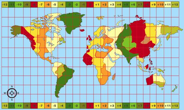 Carte Australie Avec Fuseau Horaire.Fuseaux Horaires Les Nouvelles Technologies Pour L